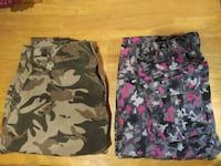 black, pink, and gray camouflage shorts Brooklyn, 11206