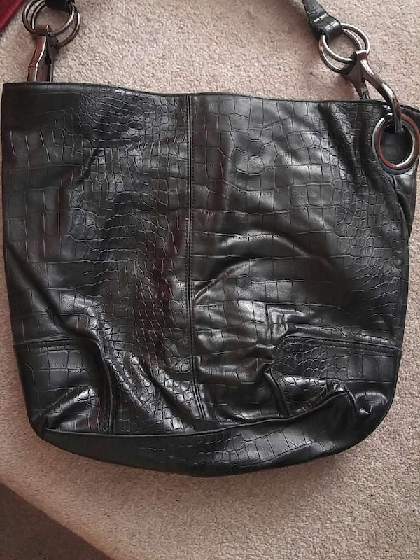 3de723396 Used women's black crocodile-skin hobo bag for sale in Brampton - letgo