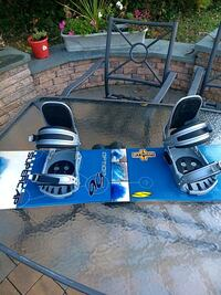 Snowboard size 156 wide with bindings