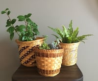 3 Small Vintage Wicker Plant Baskets/Plant Pots Calgary, T3K 5X7