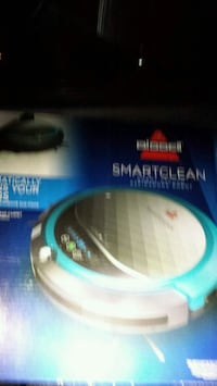blue BIssell smart clean vacuum cleaner box