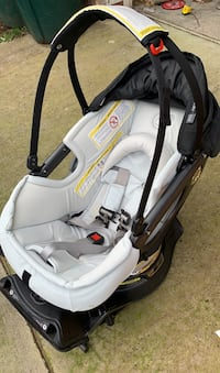 Infant car seat with base and stroller