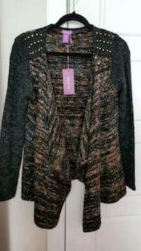 NEW Studded shoulder Wool cardigan Calgary, T3N 0E4