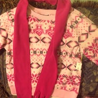 toddler's pink tribal print sweater with red scarf Gaithersburg, 20879