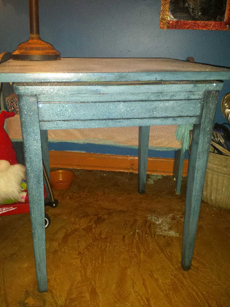Gorgeous Referbbed Antique Swivel Tv Table