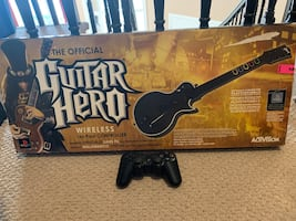 Sony PlayStation controller and guitar