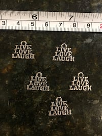 5 live love laugh pcs DIY charms for jewelry making art crafts shower Lutherville Timonium, 21093