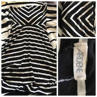 black and white chevron printed Ardene strapless dress collage Simcoe, N3Y 2S5
