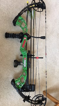 Left handed compound bow. 80lb draw weight