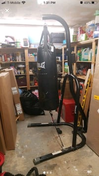 Everlast boxing heavy bag and stand