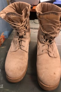 Tan Used Combat Boots size 10
