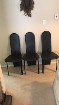 Leather Scan Design dining chairs 6 in set