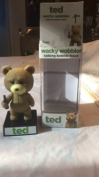 Ted wacky wobbler talking bobble-head with box