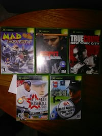 Xbox games. $20 takes them all or $5 a game.  Sodus Point, 14555