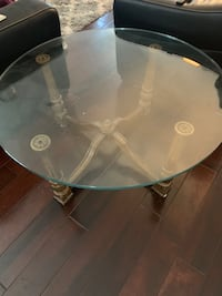 Glass coffee table 40 inches round 17 1/2 high Norfolk, 23505