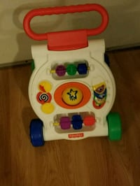 white and red Fisher Price learning walker Aurora, 80012