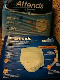 Attends underwear 20count size med Rosedale