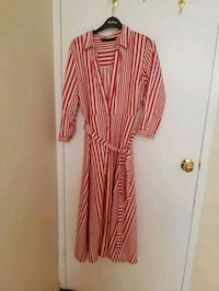 red and white striped long-sleeved dress Toronto, M1L 3E8