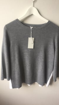 Grå scoop-neck sweatshirt Bergen, 5054