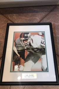 Signed Autograph of New York Giant Carl Banks Hopewell Junction, 12533