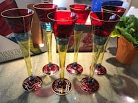 Crystal hand painted champagne flutes and Pier One Pilsner glasses Woodbridge, 22192