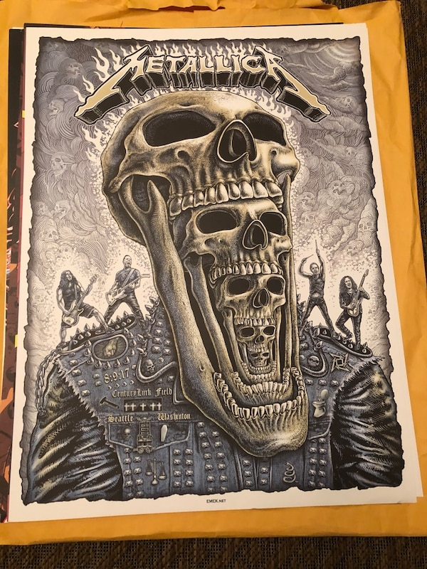 Limited Edition Metallica Concert Posters c07fd3d8-99ae-433b-ae1c-0835581fdb20