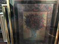 Pink petaled flower painting with brown wooden frame Greeneville, 37745