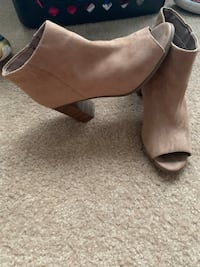 Nude heeled sandals size 6 Missouri City