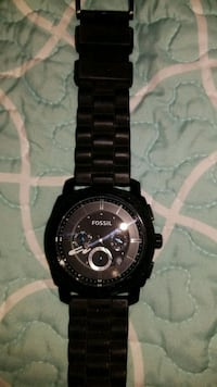 Men fossil watch soft rubber band. Like new.  Inman, 29349