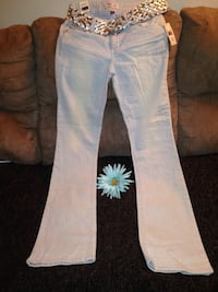 L.e.i. Light blue jeans with belt size 7 Lake Charles, 70607