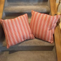 two red and white throw pillows Calgary, T3L 1M7
