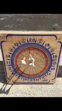 Dartboard Vintage With Traditional Darts. In Decent Shape Albany, 12208