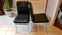 Two black leather chairs Vaughan