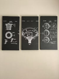 Basketball Patent Compilation Wall Art Leesburg