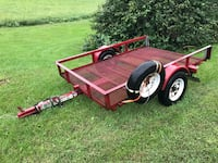 5x8 open tilting trailer mesh floor,decent tires,lights work Zanesville, 43701