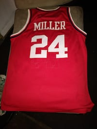 red and white Miller 24 basketball jersey shirt East Los Angeles, 90022