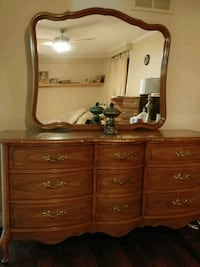 brown wooden dresser with mirror Mississauga, L5M 3E1