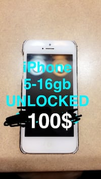 iPhone 5 - UNLOCKED - 100$ - Quick sale, can meet ASAP
