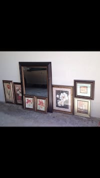 Wall mirror + picture frames Tampa, 33647