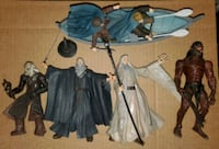 Lot of lord of the Rings action figures.