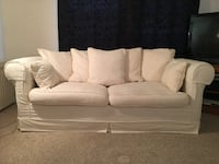White Upholstered Sofa Bed Couch Mark as sold Sterling