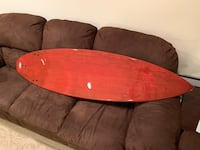6'0 Wood Grain Painted Surfboard