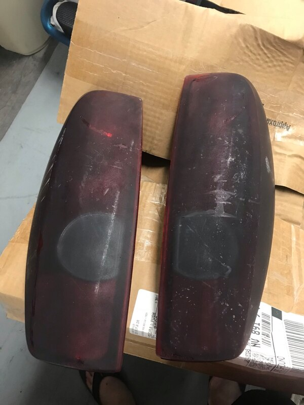2007 Chevy Colorado Tail Light housing assembly