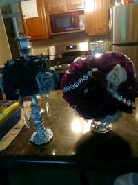 Rose ball(candle holders) $24 each or $44 for two St. Louis, 63123