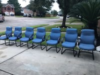 Office chairs 7 total, some need to be reupholstered.  Messsgw me if interested or to come by and see them . Houston, 77083