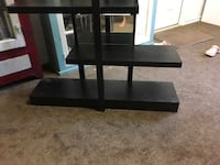 Black wooden framed glass top stand New Ulm, 78950