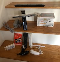 Nintendo Wii Complete w 8 games w/HDMI, controllers, etc