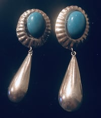 Vintage solid earrings with turquoise Silver Spring, 20904