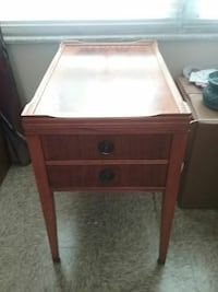Handcrafted side table. Will deliver.