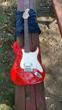 red and white stratocaster electric guitar Manchester, 17345
